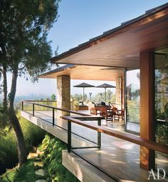 Jennifer Aniston's Beverly Hills' home, Ohana, which is a reference to the Hawaiian idea of extended family.