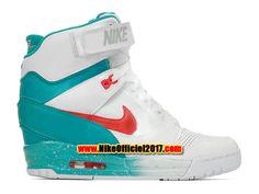 Nike Air Revolution Sky Hi GS Chaussure Montante Nike Pas Cher Pour Femme Blanc/Vert 599410-101