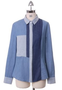 Patch Denim Shirt by Chic+