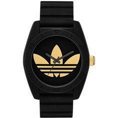 adidas Unisex Originals Black Silicone Strap Watch 42mm ADH2912 (€69) ❤ liked on Polyvore featuring jewelry, watches, black, silicone jewelry, silicone watches, adidas, adidas watches and unisex jewelry
