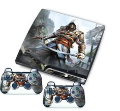 Newest Game Custom Stickers Skins for PlayStation 3 PS3 Slim + 2 Controller Skin #UnbrandedGeneric