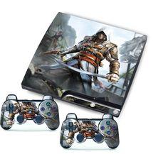 Newest Game Custom Stickers Skins for PlayStation 3 PS3 Slim + 2 Controller Skin #UnbrandedGeneric