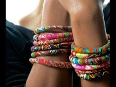 DIY African Print Fabric Bracelets   Thriftanista in the City