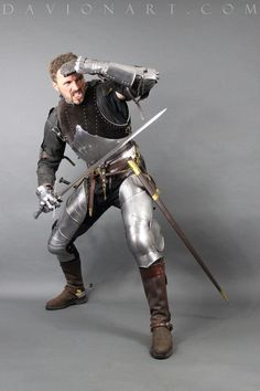 Medieval Snapshot by PhelanDavion on DeviantArt Medieval Knight, Medieval Armor, Medieval Fantasy, Character Poses, Character Design, Caballero Andante, Armadura Medieval, Anatomy Poses, Figure Poses