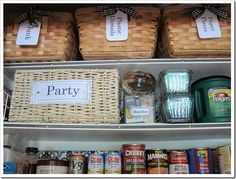 Great Ideas for Small Pantry Organization!