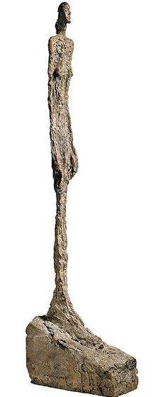 Woman of Venice.  Bronze sculpture by Alberto Giacometti. 1956