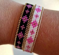 loom beading for beginners Loom Bracelet Patterns, Seed Bead Patterns, Bead Loom Bracelets, Beaded Jewelry Patterns, Beading Patterns, Bead Loom Designs, Tear, Seed Bead Jewelry, Beads And Wire