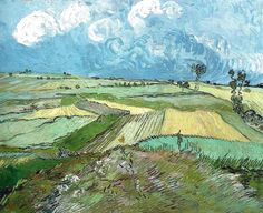Vincent van Gogh - Wheat Fields after the Rain, 1890 (Carnegie Museum of Art Pittsburgh) Van Gogh: Up Close at Philadelphia Museum of Art (Postcard)