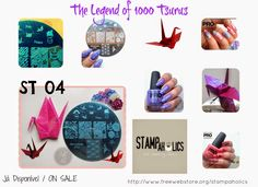 Betty Nails: Stampaholics ST04 - The Legend of 1000 Tsurus - The Sadako Sasaki History