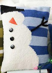 Ravelry: #37 Snowman Pillow pattern by Renee Lorion
