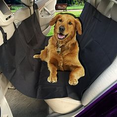 Zento Deals Black Premium Quality Vehicle Pet Hammock and Back Seat Protector with Safety Buckle For Pets *** Continue to the product at the image link.