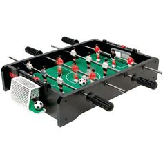 ESPN Foosball Tabletop. Simulated Playing Turf, Large Grip Handles, Sliding Score Keeper, Sturdy 20″ Tabletop Design