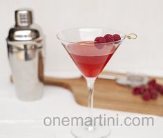 Raspberry Martini {with raspberry infused vodka}