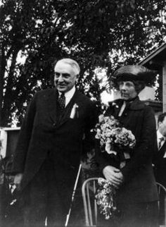President Warren G. Harding and First Lady Florence Harding at the State Fair