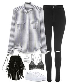 """Untitled#4668"" by fashionnfacts ❤ liked on Polyvore featuring Topshop, MANGO, Yves Saint Laurent, adidas, Cosabella and Boohoo"