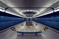 Subway station in Munich, Germany.