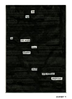 Black Out Poetry is great