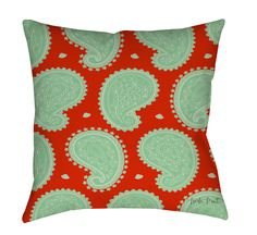 Paisley Floral Printed Throw Pillow