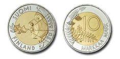 SUOMI 10 MARKKAA SUOMEN EU-PUHEENJOHTAJUUS - LIEKINPUHALTAJA KYMPPI 1999