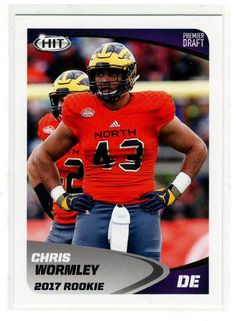 Sports Cards Football – 2017 Sage HIT  Rookie Chris Wormley – 2 Card Lot