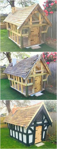 You have craze about crafting different type of crafts from pallet design and it's your hobby then this amazing idea is for you. Create this mini house and impress other about your creativity level and wood working. You have not to buy any thing expensive Pallet Lounge, Diy Pallet Sofa, Diy Pallet Furniture, Diy Pallet Projects, Home Projects, Pallet Ideas, Cheap Furniture, Pallet Dining Table, Diy Outdoor Table