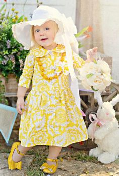 2013 Persnickety Easter Yellow Collection12 Months to 4 YearsDress, Hat, Necklace & Shoes AvailableNow In Stock