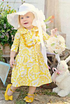 Precious Children, Beautiful Children, Beautiful Babies, Trendy Kids, Cute Kids, Little Girl Dresses, Flower Girl Dresses, Fall Picnic, Yellow Cottage