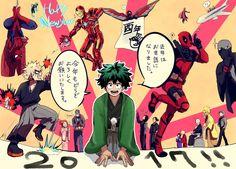Boku no Hero Academia x Marvel || Cross-Over (Happy New Year)