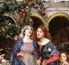 John William Waterhouse The enchanted garden 1917 (Detail)