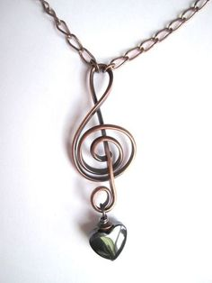 Treble Clef Necklace.