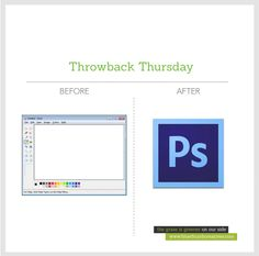 Last for this week's #throwbackthursday! Do you still use MS Paint, or are you now a Photoshop convert?   www.bluethumbcreatives.com  #throwback #tbt #paint #photoshop #designer #graphic #design #idea