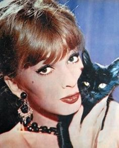 0 dany saval french actress with black cat