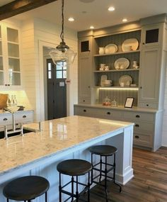 Corner Cabinetry - CLICK THE PICTURE for Lots of Kitchen Ideas. 92283477 #kitchencabinets #kitchenisland