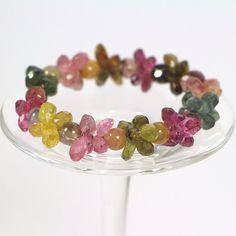 Gorgeous Bracelet Multi Color Tourmaline by AmazingGemStore