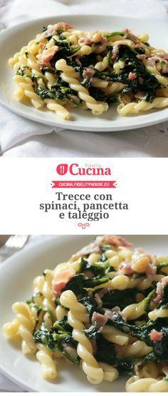 Trecce con #spinaci, #pancetta e #taleggio della nostra utente Sanny. Unisciti alla nostra Community ed invia le tue ricette!