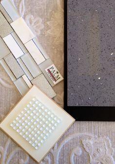 Glass and Stone Mosaics.maybe a lighter gray but love the sparkles Kitchen Reno, Kitchen Gadgets, Kitchen Remodel, Kitchen Ideas, Bathroom Colors Gray, Grey Countertops, Home Upgrades, Cozy Room, New House Plans