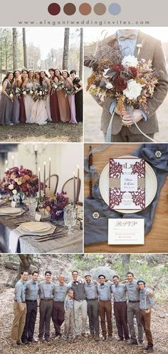 10 Chic Earth Tone høst og vinter bryllup farge combo shades of brown ,marsala and dusty blue fall and winter wedding color combos – Favoritt motetips Perfect Wedding, Our Wedding, Dream Wedding, Trendy Wedding, Elegant Wedding, Casual Fall Wedding, Wedding Blue, Wedding Pins, Wedding Dreams