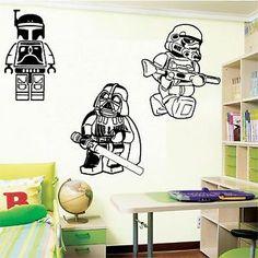 Marvelous LARGE LEGO STAR WARS DARTH VADER STORMTROOPER BOBA FETT WALL ART BEDROOM  STICKER | EBay Part 5