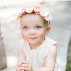 Evangelene Felt Flower Crown - Sweet gift for a baby girl!