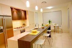 Raised separate piece along main bench .... Kitchen Design Ideas by Rhonda's Soft Furnishings & Decor