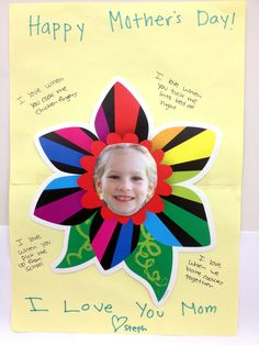 Children can write special messages to mom for Mother's Day to tell them why they love them. Have child cut-out their photo and attach it to a colorful flower cut-out from CTP. A perfect project for Mother's Day! Holiday Activities, Holiday Crafts, Valentine Cards, Valentines, Mather Day, Mothers Day May, Flower Cut Out, Creative Teaching Press, Spring School