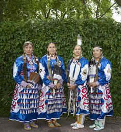 Members of the Native American Women Warriors, a Pueblo, Colorado-based association of active and retired American Indians in U.S. military service, at a Colorado Springs Native American Inter Tribal Powwow and festival. Photo, July 18, 2015 by Carol M. Highsmith. Gates Frontiers Fund Colorado Collection within the Carol M. Highsmith Archive, Library of Congress, Prints and Photographs Division.