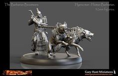 Wargame News and Terrain: Gary Hunt Miniatures: The Barbarian Beestwars Hyen...