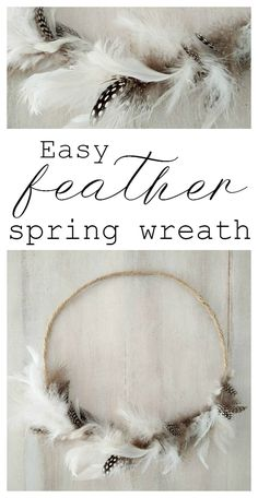easy feather spring wreath kreativk.net