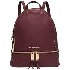 Pre-owned Michael Kors Rhea Zip Small (ship Via Priority Mail) Backpack 52c78aa9de6bf