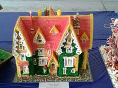 Gingerbread house. Created by a Dentist. His work is outstanding