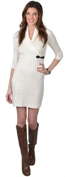CALVIN KLEIN Robe Beige Sweater Dress.Taille 44. RCK:3051/44.