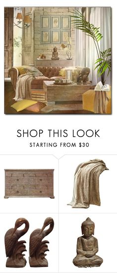 A home decor collage from February 2018 featuring wooden furniture, microfiber blanket and window coverings. Browse and shop related looks.