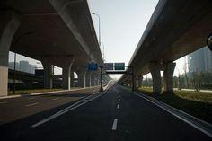 Øde veje i byen Hangzhou under G20-topmøde.
