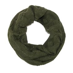 CTM® Womens Knit Chevron and Solid Winter Loop Scarf. Half is solid with chevron stripes knit in